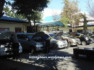 9 Unit Mobil Curian di Mapolres Bitung. (photo: Ardan)
