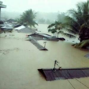 Pemukiman Warga di Tanjung Batu terendam banjir 1-3 meter