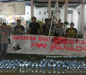 Aksi Gerakan 1000 Botol Air Mineral Oi Bitung