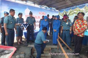 Peletakan batu pertama pembangunan Masjid di Lanal Samuel Languyu