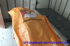 Jasad Teofelo Formentela terbujur kaku di Instalasi Forensik RSUD Bitung