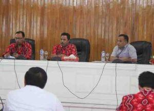 Rapat evaluasi aset dan penyerapan anggaran Pemda Kota Bitung