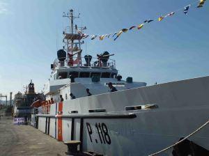 Kapal Patroli KN Gandiwa yang akan beroperasi di 5 Provinsi