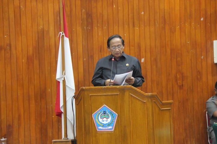 Sondakh hadiri rapat paripurna di DPRD Kota Bitung