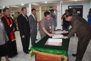 Pelantikan Penjabat baru pemerintah Kota Bitung