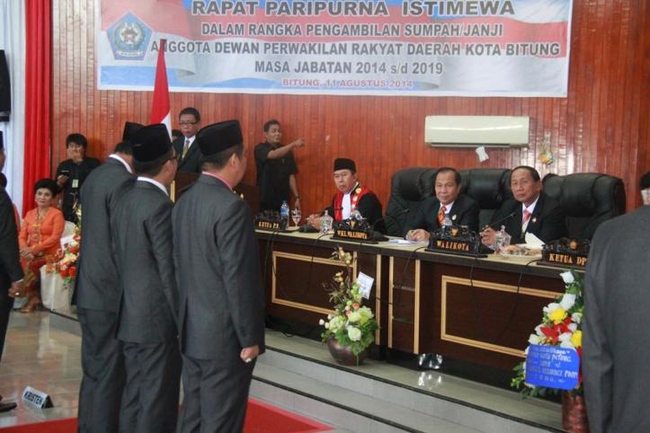 Pelantikan Anggota DPRD Kota Bitung yang baru