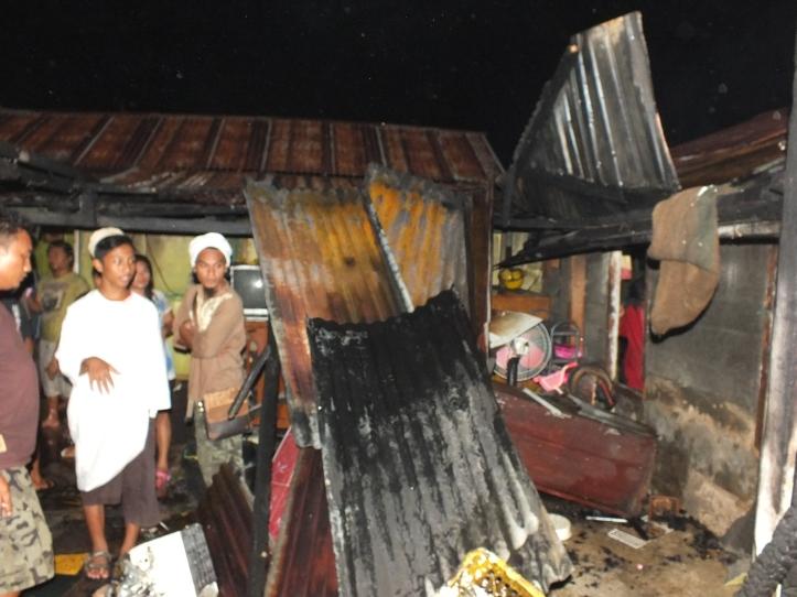 Bagian dari bangunan yang terbakar