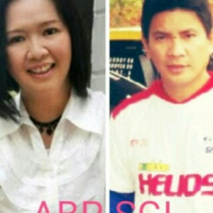 Pasangan Bakal Calon Walikota dan Wakil Walikota Aryanti Baramuli Putri dan Santy Gerald Luntungan