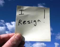 Ilustrasi/ I resign : saya mundur