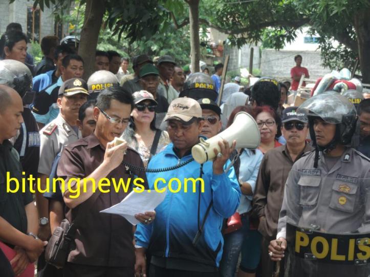 Eksekutor PN Bitung bacakan Putusan PK- Mahkamah Agung