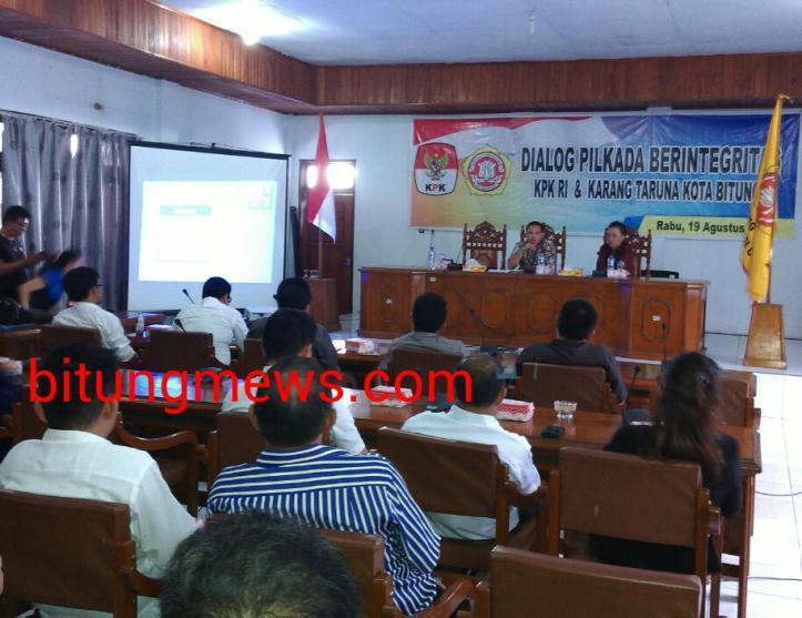 Dialog Pemilu Berintegritas digelar Karang Taruna dan KPK
