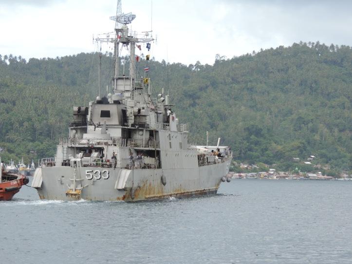 Satgas Peresmian Lantamal XIII Tarakan berangkat dari LANAL Samuel Languyu Bitung