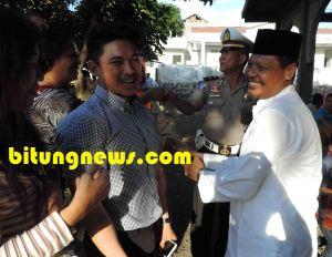 Calon Walikota Stefan Pasuma bersilaturahmi dengan Ketua Dewan Masjid Indonesia, Yusuf Sultan