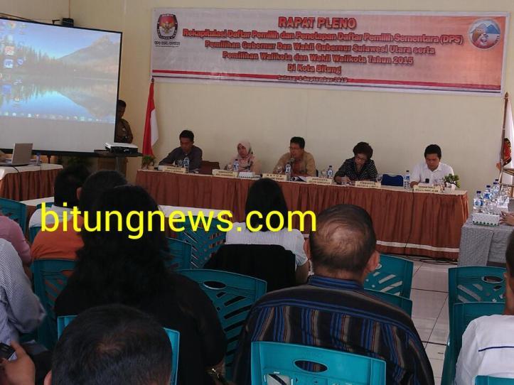 KPU Pleno Penetapan DPS Pilkada