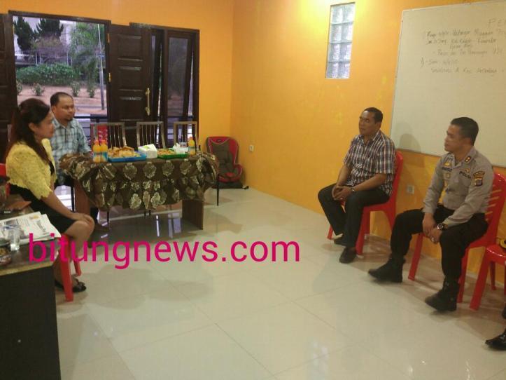 Kapolres Bitung AKBP Reindolf Unmehopa dan jajaran serap aspirasi dari kandidat Walikota dan Wakil Walikota