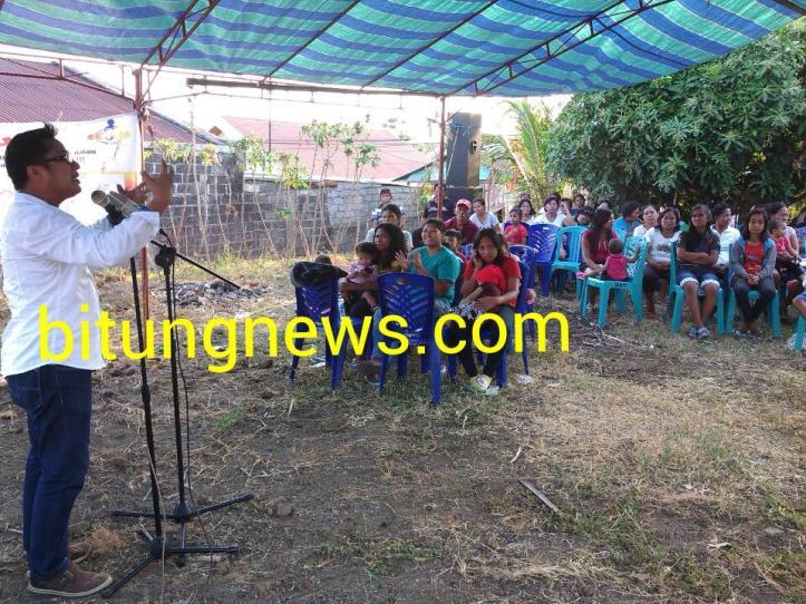Orasi Politik Calon Walikota, Michael Jacobus di hadapan pendukungnya