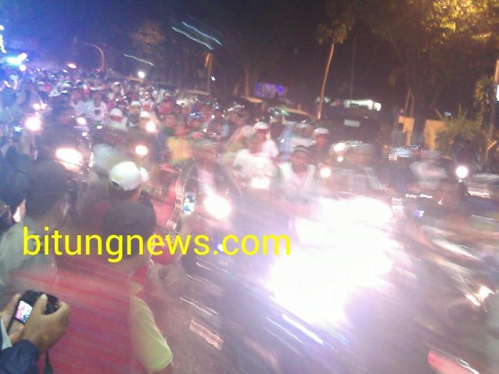 Ribuan orang ikuti semarak takbir di Kota Bitung