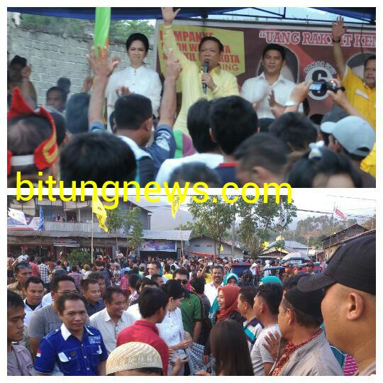 Ketua DPP Partai Golkar, Agung Laksono, orasi politik di hadapan pendukung ABP-SGL