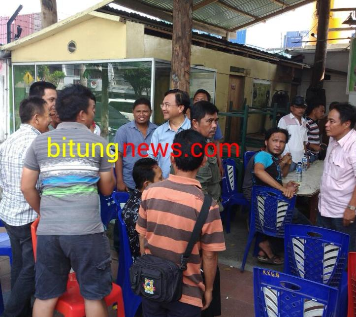 Cagub Beny Mamoto mendapat sambutan meriah warga Kota Bitung