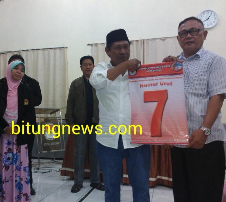 Calon walikota dan wakil walikota Ridwan Lahiya - Max Purukan dengan No urut 7
