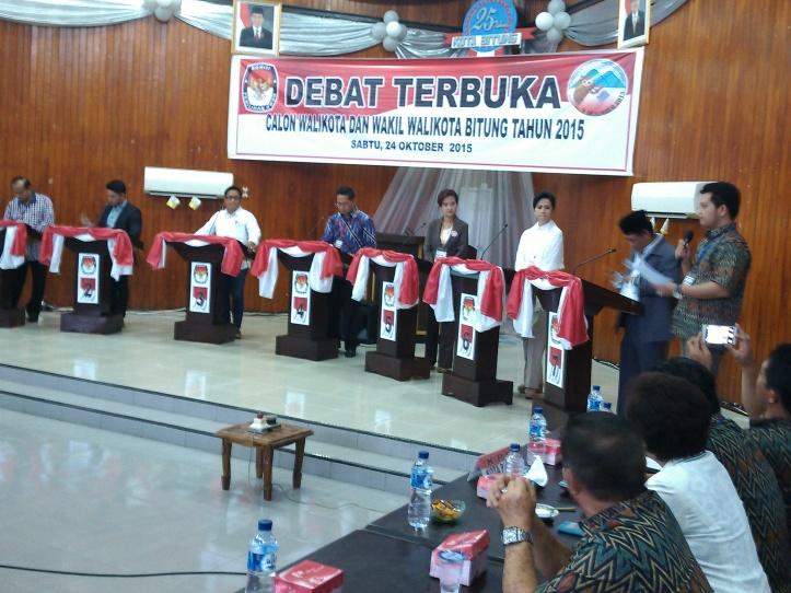 Kini 7 calon walikota ikuti debat publik