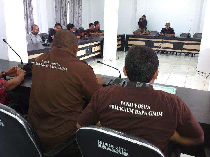 Panji Yosua PKB GMIM Bitung, diterima Anggota DPRD Victor Tatanude dan Frangky Yulianto