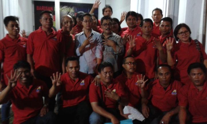 Buruh Bentuk Badan Pengawal Kesepakatan, untuk menangkan Calon Walikota dan Wakil Walikota Hengky Honandar - Fabian Kaloh