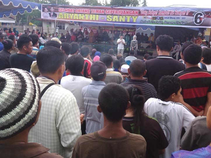 Kampanye terbatas ABP-SGL di Kelurahan Girian Bawah, Sabtu 21/11/2015