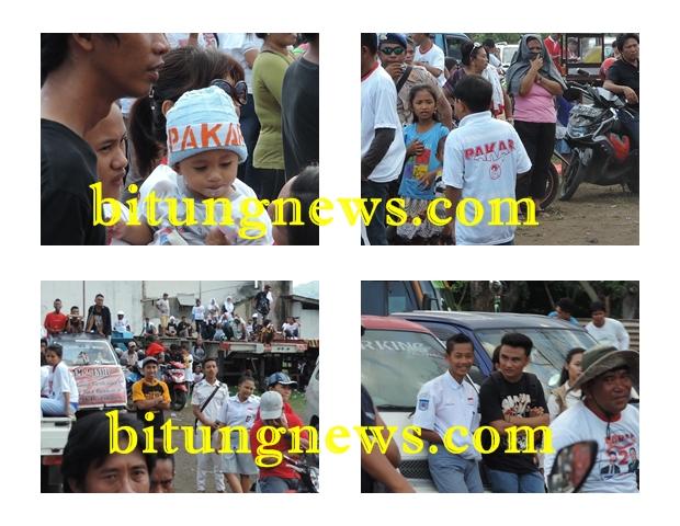 Kampanye Kandidat Walikota dan Wakil Walikota Stefan Pasuma-Mario Karundeng, eksploitasi anak dan pelajar berseragam (foto: KIPP)