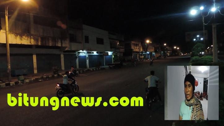 Balap liar di muka toko Noor Ainy resahkan warga sekitar dan pengguna jalan lain (insert: Kapolsek Maesa, Kompol Deli Manulang)