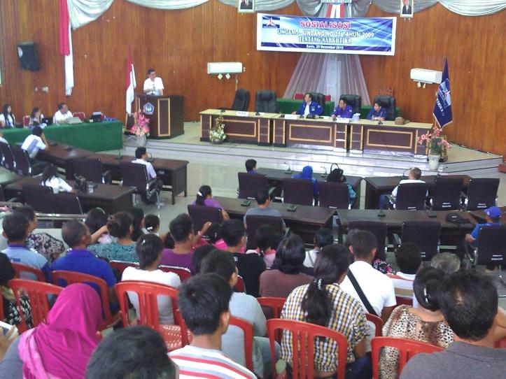 Ratusan orang Kader Partai Demokrat Kota Bitung ikuti Sosialisasi  UU Narkotika