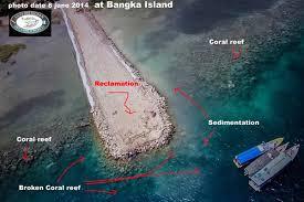 Terumbu Karang Pulau Bangka Rusak Akibat Reklamasi (photo:jokowinomics.com)
