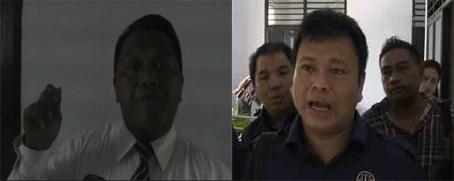 Kuasa Hukum Anthonius Supit,  Nico Walone (kiri) dan Badan Advokasi Hukum Partai Nasdem, Michael Dotulong (kanan)