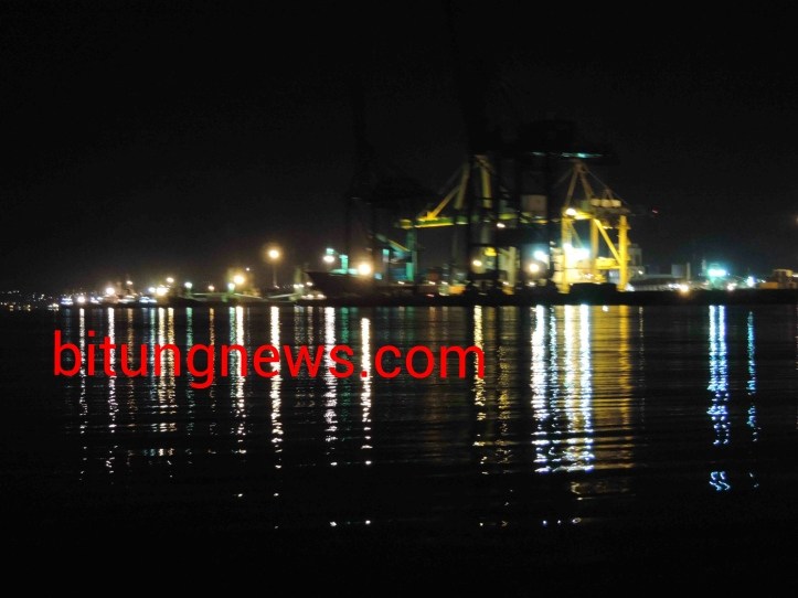 Container Port of Bitung from Lembeh Straits (news photo)
