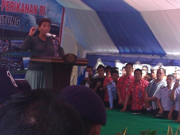 Menteri Kelautan dan Perikanan Kabinet Kerja, Susi Pujiastuti