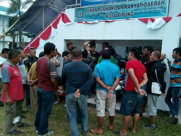 Para ex-THL Satpol PP adukan nasib ke DPRD Bitung