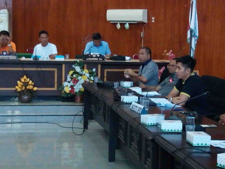 Anggota Fraksi Partai Demokrat, Habriyanto Ahmad, menyampaikan pendapat mengenai kasus THL, PALA dan RT